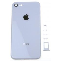 Apple iPhone 8 kryt zadný + rám stredový biela OEM