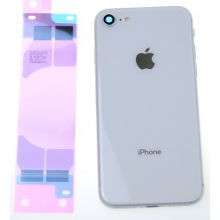 Apple iPhone 8 kryt zadný + malé diely biela OEM