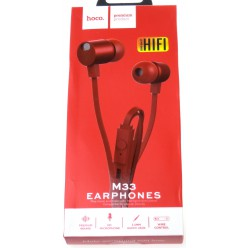 hoco. M33 earphone red