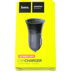 hoco. UC204 dual USB car charger black