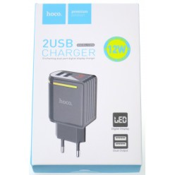 hoco. C39A dual USB charger black