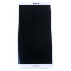 Huawei P Smart - LCD displej + dotyková plocha + rám + malé diely biela - originál