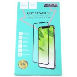 hoco. Apple iPhone Xs Max Fast attach Tempered Glass 3D black