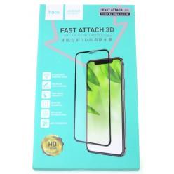 hoco. Apple iPhone Xs Max Fast attach Temperované Sklo 3D černá