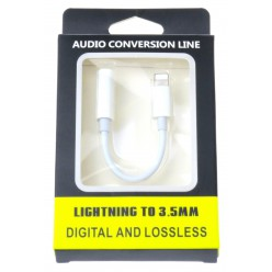 Apple adaptér lightning to headphone jack biela