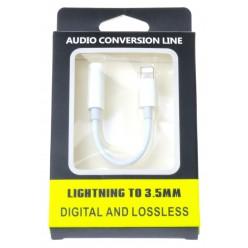 Apple adaptér lightning to headphone jack bílá
