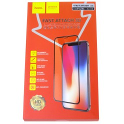 hoco. Apple iPhone X, Xs Fast attach Tempered Glass 3D black