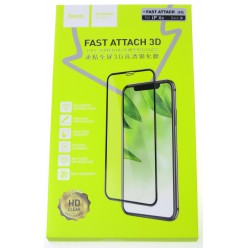 hoco. Apple iPhone Xr Fast attach Tempered Glass 3D black