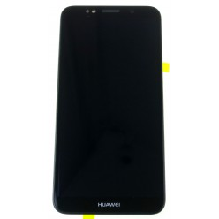 Huawei Y5 Prime (2018) - LCD + touch screen + frame + small parts black - original