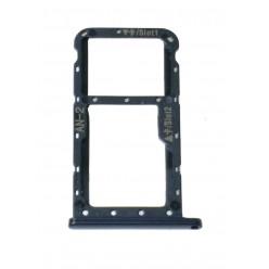 Huawei P20 Lite - Držiak sim a microSD čierna - originál