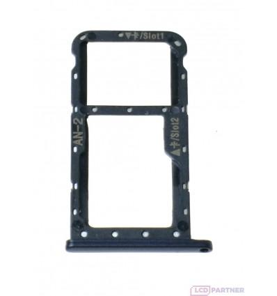 Huawei P20 Lite Držiak sim a microSD čierna - originál