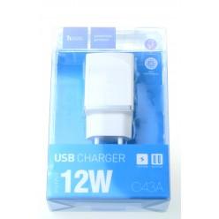 hoco. C43A USB nabíjačka biela