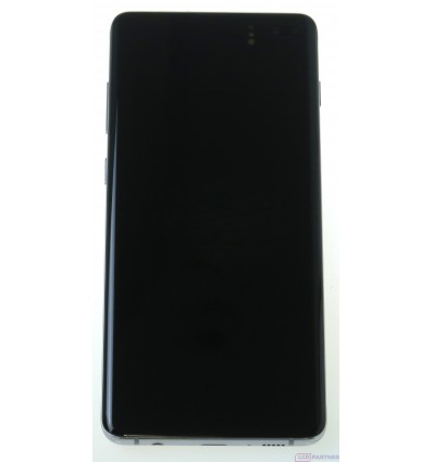 Samsung Galaxy S10 Plus G975F LCD displej + dotyková plocha + rám biela - originál