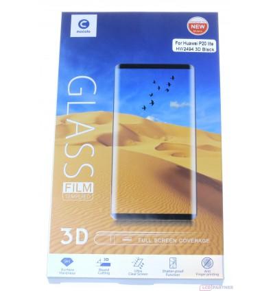 Mocolo Huawei P20 Lite 3D temperované sklo čierna