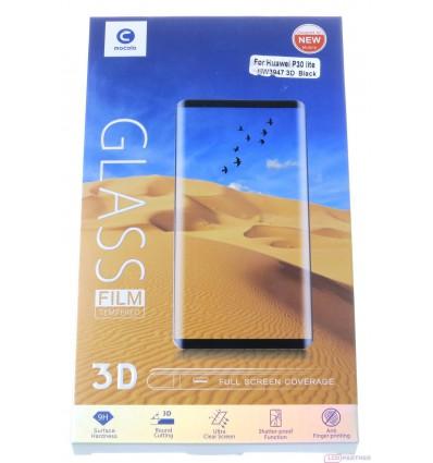 Mocolo Huawei P30 (ELE-L09) 3D temperované sklo čierna