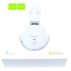 hoco. W19 bezdrôtové slúchadlá biela