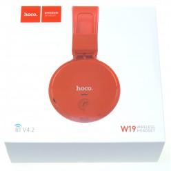 hoco. W19 wireless headphone red
