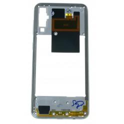 Samsung Galaxy A50 SM-A505FN Rám středový bílá - originál