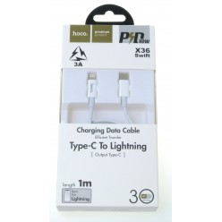 hoco. X36 lightning to type-c cable white