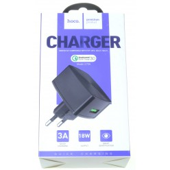 hoco. C70A USB rapid charger quick charge 3.0 18W black