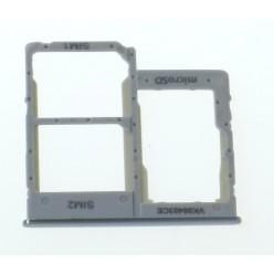 Samsung Galaxy A40 SM-A405FN Držák sim a microSD bílá - originál