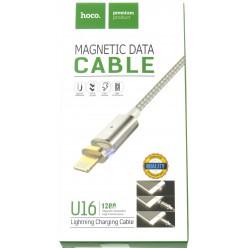 hoco. U16 magnetický adsorpční nabíjecí kabel lightning stříbrná - originál – vrátené do 14 dní