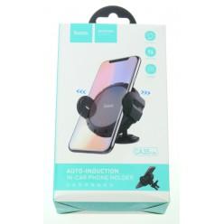 hoco. CA35 Lite car holder + wireless charger black