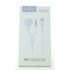 hoco. U69 nabíjecí kabel pro lightning a Applewatch 1,2m bílá