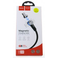 hoco. S8 magnetic adsorption microUSB charging cable black