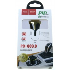 hoco. Z31A car charger PD+QC 3.0 18W black