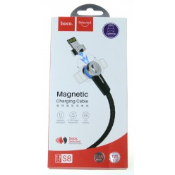 hoco. S8 magnetický adsorpční nabíjecí kabel lightning černá