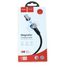 hoco. S8 magnetický adsorpční nabíjecí kabel typ-c černá
