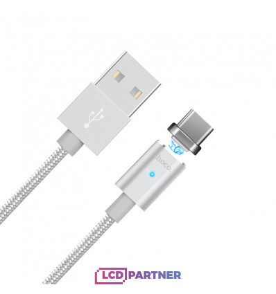 hoco. U16 magnetic adsorption type-c charging cable silver