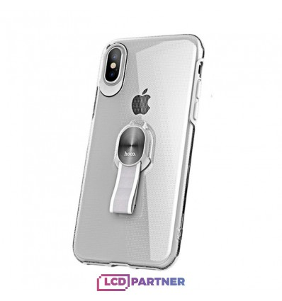hoco. Apple iPhone 7 Plus, 8 Plus Transparent cover with magnetic finger holder clear