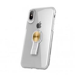 hoco. Apple iPhone X Pouzdro transparentní s magnetickým držákom průsvitná