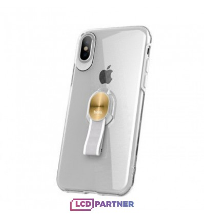 hoco. Apple iPhone X Puzdro transparentné s magnetickým držiakom priesvitná