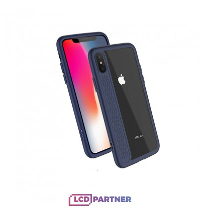 hoco. Apple iPhone X transparent cover star shadow blue