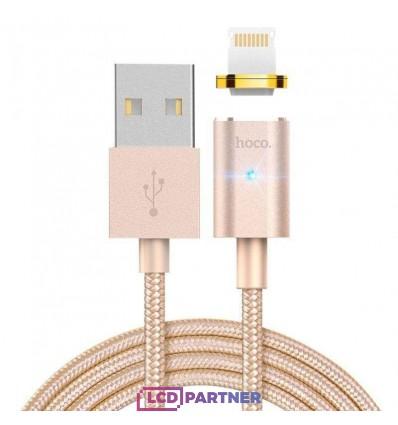 hoco. U16 magnetický adsorpčný nabíjací kábel lightning zlatá