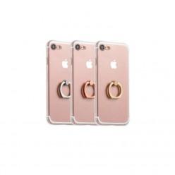 hoco. Apple iPhone 7 Plus, 8 Plus Puzdro transparentné s držiakom strieborná
