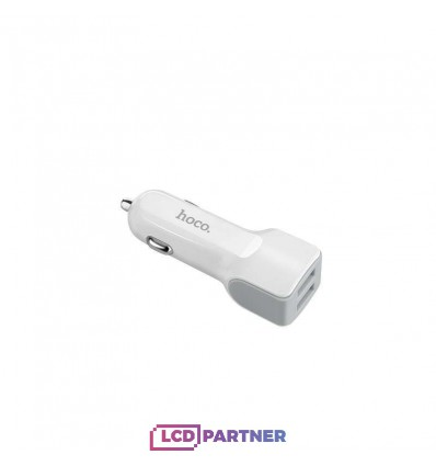 hoco. Z23 autonabíjačka dual USB s lightning káblom biela