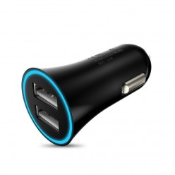 hoco. UC204 dual USB car charger black