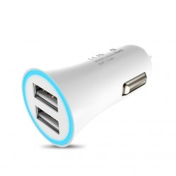 hoco. UC204 autonabíjačka dual USB biela