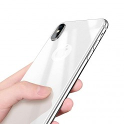 hoco. Apple iPhone X back side tempered glass white