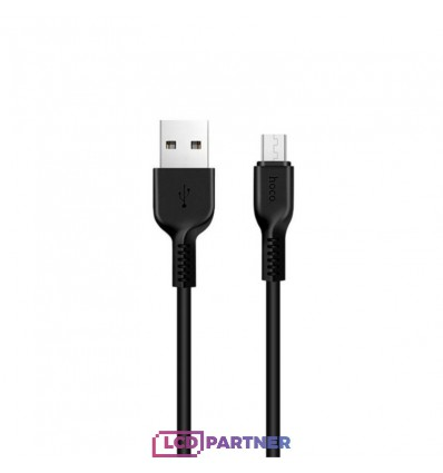 hoco. X20 charging cable microUSB 2m black