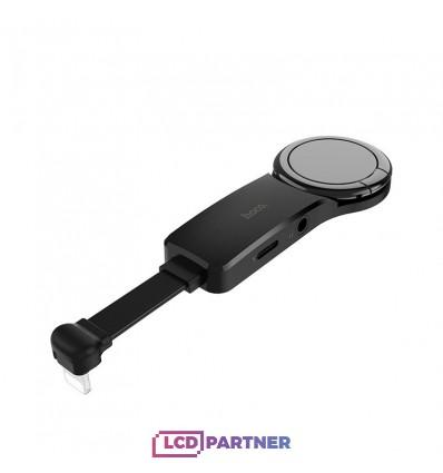 hoco. LS23 lightning digital 3.5 audio konvertor čierna