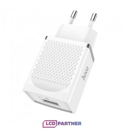 hoco. C42A USB rýchlonabíjačka quick charge 3.0 18W biela