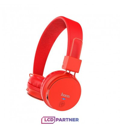 hoco. W19 wireless headphone red