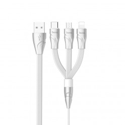 hoco. U57 charging cable 3 in 1 1,2m white