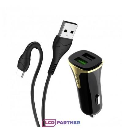 hoco. Z31 typ-c kábel autonabíjačka s USB vstupom QC 3.0 18W čierna