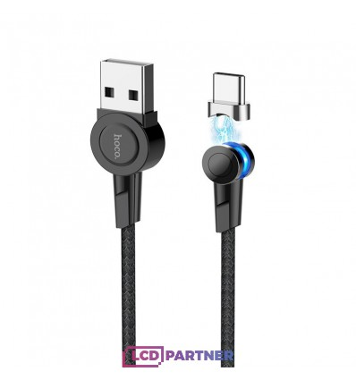 hoco. S8 magnetic adsorption type-c charging cable black